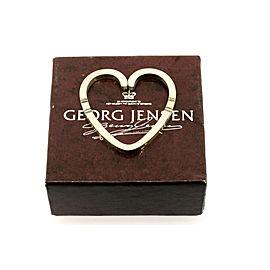 Georg Jensen 44 Heart Key Ring Holder Sterling Silver & Box Pouch