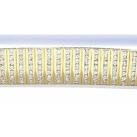 WIDE Round Diamond Tennis Bracelet 18KT Yellow Gold 11.9mm 7.26Ct G-VS