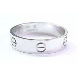 "Cartier Love Platinum Ring ""Leve"" Size 66"