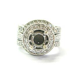 Milgrain Diamond Semi Mount Ring 14Kt White Gold 1.00Ct ( Round 1.00Ct )