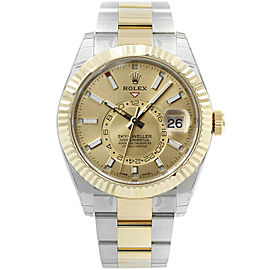 Rolex 326933 Sky-Dweller Men's Stainless Steel Champagne 1 Year Warranty