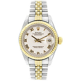 Rolex 79173 Datejust 26mm Women's Stainless Steel White 1 Year Warranty