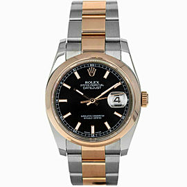 Rolex 116201 Datejust 36mm Men's Stainless Steel Black 1 Year Warranty