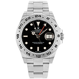 Rolex 216570 Explorer II Men's Stainless Steel Black 1 Year Warranty