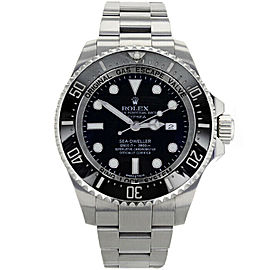 Rolex 116660 Sea-Dweller Men's Stainless Steel Black 1 Year Warranty