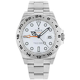 Rolex 216570 Explorer II Men's Stainless Steel White 1 Year Warranty