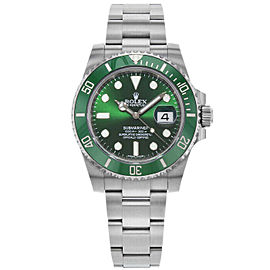 Rolex 116610 Submariner Men's Stainless Steel Green 1 Year Warranty
