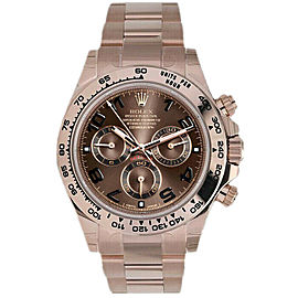 Rolex Daytona 116505 Men's Rose Gold Automatic Chocolate 1 Year Warranty