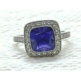 Tiffany & Co Platinum Legacy Tanzanite & Diamond Ring 2.90CT