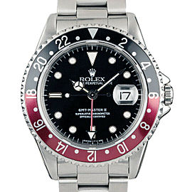 Rolex GMT Master II 16710 Men's Stainless Steel Automatic Black 1 Year Warranty