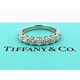 TIFFANY & CO PLATINUM SHARED SETTING .91CT .93 DIAMOND 3.5MM BAND 8.5
