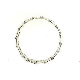 John Hardy 5 Row Wrap Bamboo Bangle Bracelet Sterling Silver Planted 10 Bamboos