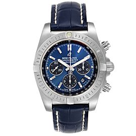Breitling Chronomat 44 Airbourne Blue Dial Steel Mens Watch AB0115