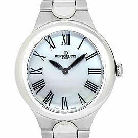 Bertolucci Serena Garbo 303 Womens Quartz Watch Mother of Pearl Dial SS 37mm