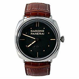 Panerai Radiomir S.L.C 3 Days PAM425 Men's Hand Wind Black Dial Watch W/B&P 47mm