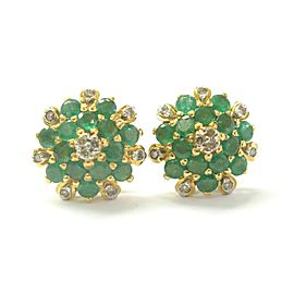 Natural Colombian Green Emerald & Diamond Yellow Gold Jewelry Set 6.86Ct 18Kt