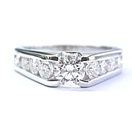 18Kt Round Cut Diamond Tension Setting White Gold Engagement Ring D-SI1