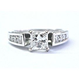 Robin Brothers Princess & Round Cut Diamond White Gold Engagement Ring 1.16Ct