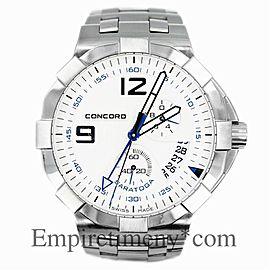 Concord Saratoga 02.6.14.1041 Men's Quartz Watch Stainless Steel MOP Dial 45MM