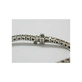 18KT Round Cut NATURAL Diamond Tennis Bracelet SOLID White Gold 5.01Ct G-H