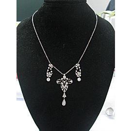 Platinum / 18Kt Vintage Old European Cut NATURAL Diamond Necklace 2.40CT