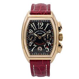Franck Muller Conquistador 8005KCC 18K Rose Gold Black Dial 35mm