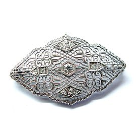 Vintage Old European Cut Diamond Pin/Brooch .25Ct White Gold