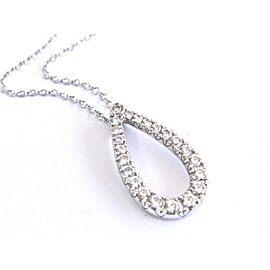 Kwiat Contorno 18K White Gold & Diamond Teardrop Pendant Necklace .50Ct