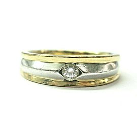 18Kt/Platinum Artcarved Diamond Band Ring .20Ct