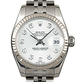 Rolex Datejust 26mm 179174 Women's Stainless Steel Automatic White 1YrWarranty