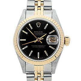 Rolex Datejust 26mm 69173 Women's Stainless Steel Automatic Black 1YrWarranty