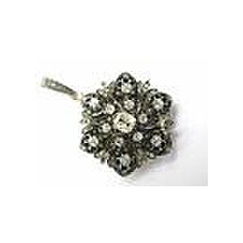 NATURAL 14Kt/Silver Antique Cushion Old European Rose Cut Diamond Pendant 3.64CT