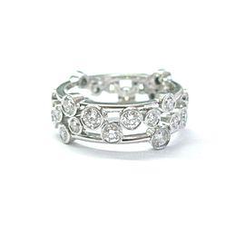 Tiffany & Co Platinum Bubbles NATURAL Diamond Ring 1.20Ct Sz 4.5