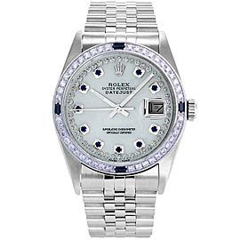 Rolex Datejust 36mm 16234 Unisex Stainless Steel Automatic White MOP 1YrWarranty