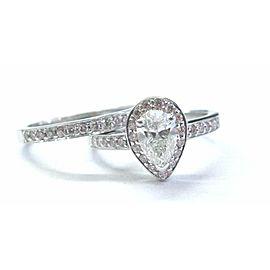 18Kt Pear & Pink Diamond White Gold Engagement Set 1.02Ct NATURAL PINK DIAMONDS