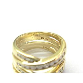 Criss Cross Diamond Rings 14Kt Yellow Gold 1.00Ct G-VS2 SIZEABLE TWO RINGS