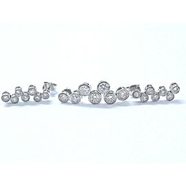 18Kt White Gold Diamond Milgrain Bubble Drop Earrings & Pendant 1.50Ct