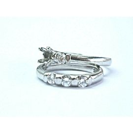 Scott Kay Platinum Diamond Engagement Semi Mount Set .50Ct ( 5mm )