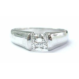 Platinum Round Cut Diamond Solitaire Ring .50CT E-VVS2