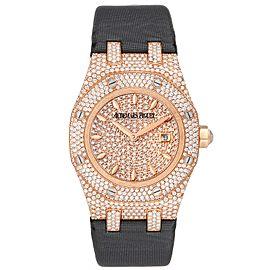 Audemars Piguet Royal Oak Rose Gold Diamond Ladies Watch 67625OR