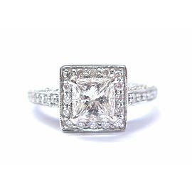 18Kt Princess Cut NATURAL Diamond EGL Engagement White Gold Ring 1.76CT E-SI1