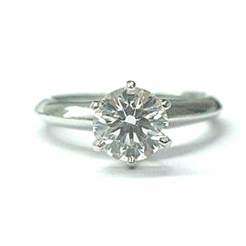 Tiffany & Co Platinum Round Diamond Solitaire Engagement Ring 1.05CT H-VVS2