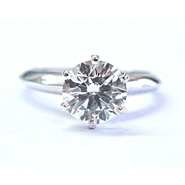 Tiffany & Co Platinum Round Diamond Solitaire Engagement Ring 1.27CT E-VS1