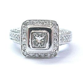 Princess & Round Cut Diamond White Gold Engagement Ring 1.15Ct SIZEABLE G-H/VS2
