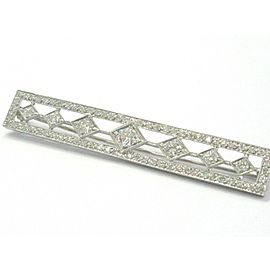 Platinum Vintage Old European Cut NATURAL Diamond Pin / Brooch 2.94Ct