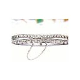 Platinum Round Cut Diamond Tennis Bracelet PT950 3.85CT