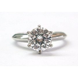 Tiffany & Co Platinum Round Diamond Solitaire Engagement Ring 1.26CT D-VS1
