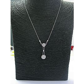 """Tiffany & Co Platinum Floral Diamond Rose Collection Necklace .45Ct 18"""""""