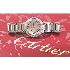Cartier Ballon Bleu 28mm 18kt White Gold Quartz Diamond Watch 85325MX