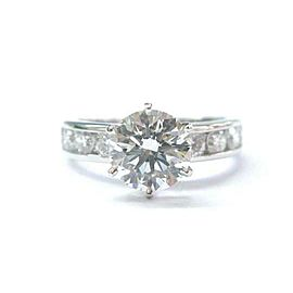 Tiffany & Co Platinum Diamond Channel Set Engagement Ring 1.83Ct +.72Ct I-VS1